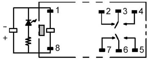 PCB erősáramú relé, G2R-2-SNI 230 VAC