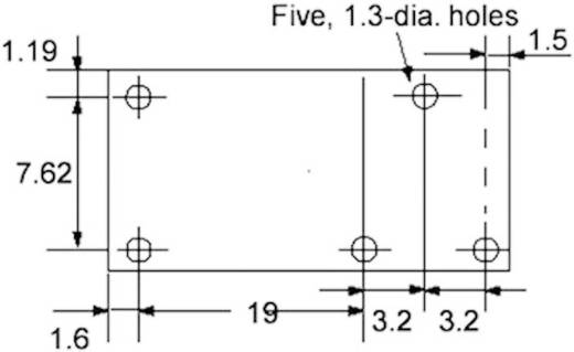 PCB teljesítmény relé 24 V/DC 1 váltó, 8 A, 30 V/DC/400 V/AC, 2000 VA/150 W, Omron G6RN-1 24DC