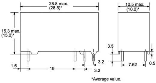PCB teljesítmény relé 12 V/DC 1 váltó, 8 A, 30 V/DC/400 V/AC, 2000 VA/150 W, Omron G6RN-1 12DC