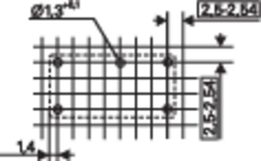 Nyákba forrasztható teljesítmény relé, bistabil 5 V/DC 1 váltó 5 A 250 V/AC 750/1250 VA, TE Connectivity PE014F05