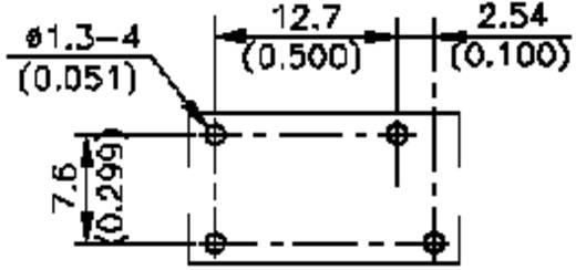 Nyákba ültethető teljesítmény relé 24 V/DC, 1 záró 8 A 240 V/AC 2500 VA, Song Chuan 835NL-1ACE 24V DC