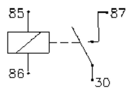 Autó relé 12 V/DC 1 záró, 50 A 14 V/DC, Song Chuan 896H-1AH-C 12V DC