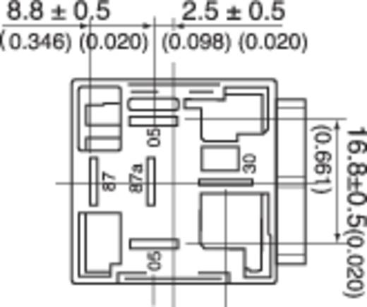 Autó relé 24 V/DC 1 váltó, 14 V/50 A / 28 V/20 A, Song Chuan 896H-1CH-C1 24V DC