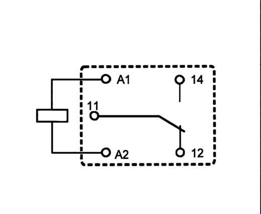 Miniatűr teljesítmény relé 12 V/DC 1 váltó (85/105 °C) 12/10 A 250 V/AC 2500 VA, Song Chuan 812H-1CCEF 12