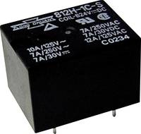 Miniatűr teljesítmény relé 12 V/DC 1 váltó (85/105 °C) 12/10 A 250 V/AC 2500 VA, Song Chuan 812H-1CCEF 12 Song Chuan