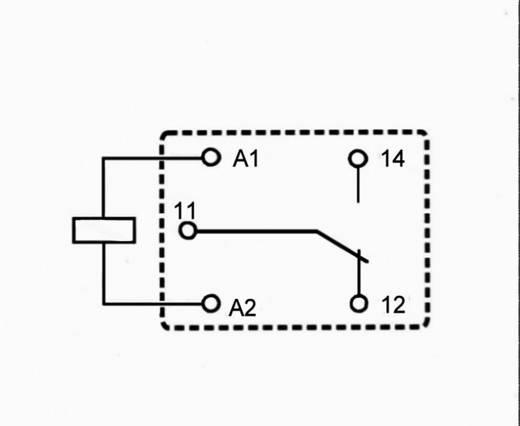 Miniatűr teljesítmény relé 12 V/DC 1 váltó 7 A 250 V/AC 1750 VA, Song Chuan 833H-1C-C 12