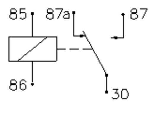 Autó relé 12 V/DC 1 váltó, 14 V/50 A / 28 V/20 A, Song Chuan 896H-1CH-C1 12V DC