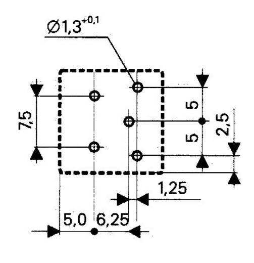 Teljesítményrelé, 1AK 12VDC 10A PB