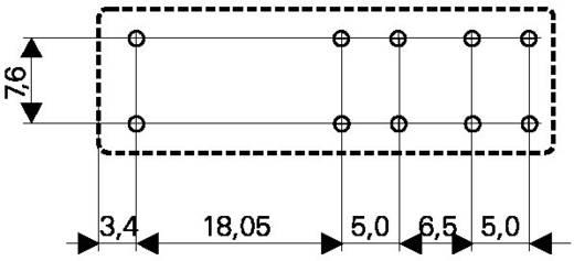 Biztonsági relé 24 V/DC 3 záró /1 nyitó, 8 A 250 V/AC 2000 VA, TE Connectivity SR4M4024