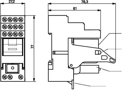 DIN sín foglalat, 4 pólusú, TE Connectivity PT78742