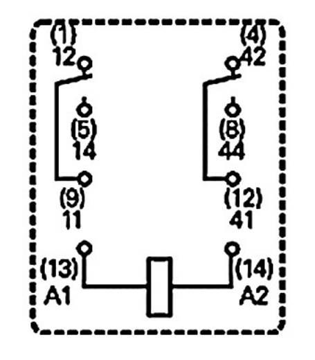 Miniatűr relé 230 V/AC 2 váltó 12 A 250 V/AC, 3000 VA, TE Connectivity PT270730