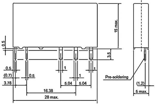 Fujitsu hálózati relé 12 V/DC, 1x 6 A / 250 V/AC, FTR-LYCA012V