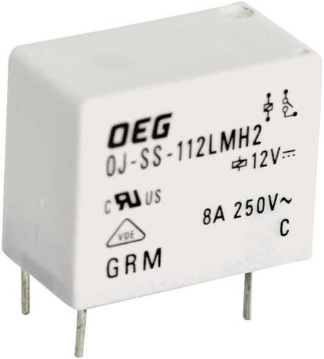 Miniatűr nyák teljesítmény relé 12 V/DC 1 záró, 8 A 250 V/AC 2000 VA, TE Connectivity OJ-SS-112LMH2