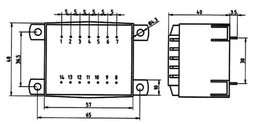 Transzformátor 16,0VA 230V / 2X9V / 889MA