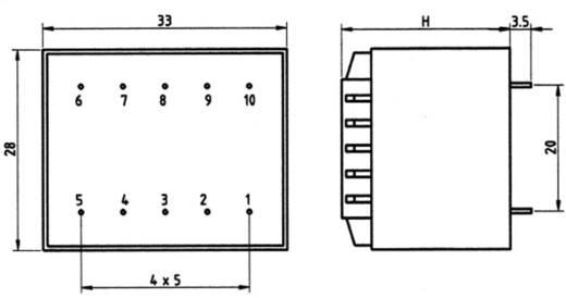 Transzformátor 2,3VA 230V / 15V / 153MA