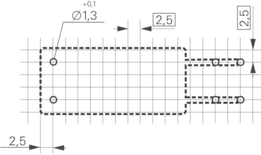 Teljesítmény relé RF Faston csatlakozóval, 12 V/DC 1 záró, 16 A 240 V/AC 4000 VA, TE Connectivity RF334012WG