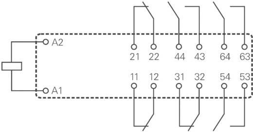 Biztonsági relé 24 V/DC 3 záró/3 nyitó, 8 A 400 V/AC 2000 VA, TE Connectivity SR6A6K24