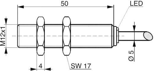 Induktív közelítés kapcsoló M12, kapcsolási távolság: 2 mm, Contrinex DW-AD-607-M12