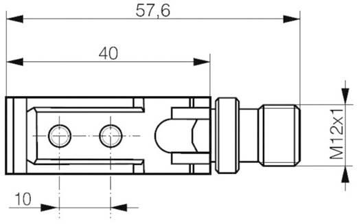 Kompakt téglatest alakú reflexiós fénysorompó HGA-val, hatótáv: 30-500 mm, Contrinex LHS-4050-103