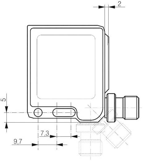 Kompakt téglatest alakú adó az LLS-4050-00X-hez, hatótáv: max. 50 m, Contrinex LLS-4050-000(S)