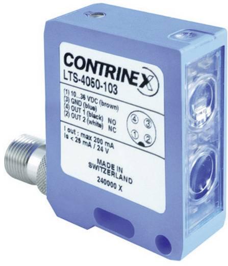 Kompakt téglatest alakú reflexiós fénysorompó, hatótáv: 30-1200 mm, Contrinex LTS-4050-104