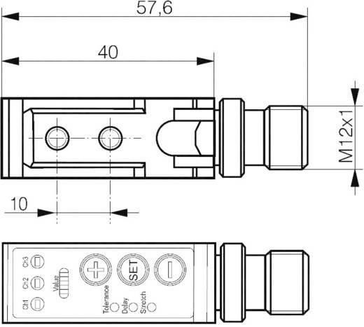 Reflexiós fénydetektor/színérzékelő, 3 színre betanítható csatornával, hatótáv: 30 - 40 mm, Contrinex FTS-4055-303