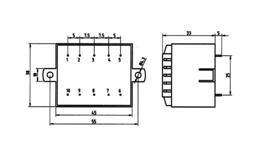 Transzformátor 5,0VA 230V / 9V / 556MA