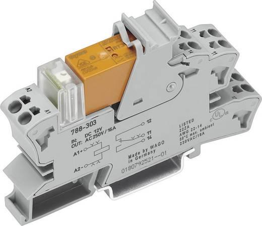 Sínre szerelhető foglalat kis kapcsoló relével 2 váltó 2 x 8 A, WAGO 788-512