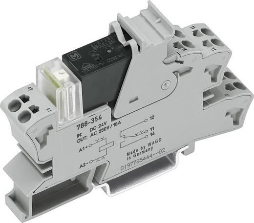 Sínre szerelhető foglalat kis kapcsoló relével 1 váltó 16 A, WAGO 788-354