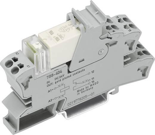 Sínre szerelhető foglalat kis kapcsoló relével 1 váltó 50 mA, WAGO 788-607