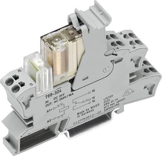 Sínre szerelhető foglalat biztonsági relével SR2M, 2 váltó 6 A, WAGO 788-384