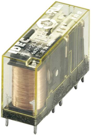 Kényszervezérelt relé RF1V érintkezőkkel 24 V/DC 2 záró/2 nyitó 6 A 30 V/DC/250 V/AC, Idec RF1V-2A2BL-D24