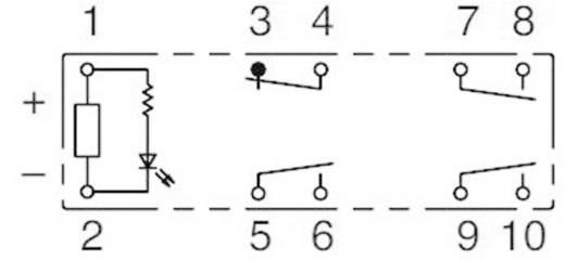 Kényszervezérelt relé RF1V érintkezőkkel 24 V/DC 3 záró /1 nyitó 6 A 30 V/DC/250 V/AC, Idec RF1V-3A1BL-D24