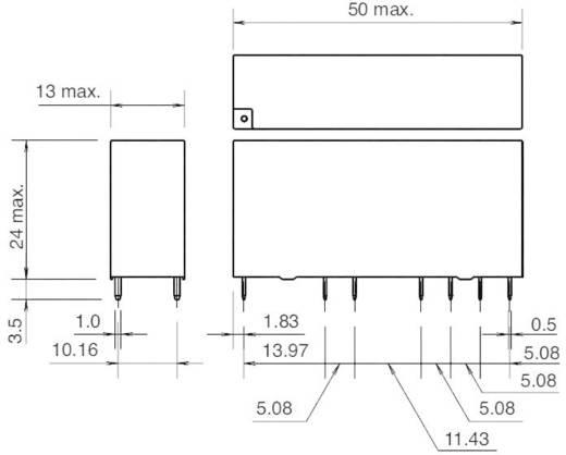 Kényszervezérelt relé RF1V érintkezőkkel 24 V/DC 4 záró/2 nyitó 6 A 30 V/DC/250 V/AC, Idec RF1V-4A2BL-D24