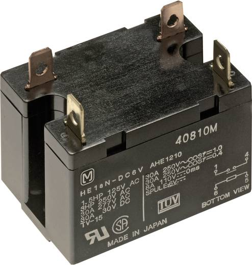 Teljesítmény relé 24 V 2 záró, 25 A 30 V/DC 277 V/AC 6925 VA, Panasonic HE2AN24