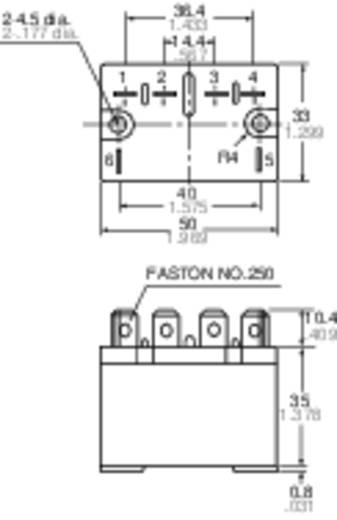 Teljesítmény relé 24 V 1 záró, 30 A 30 V/DC 277 V/AC 8310 VA, Panasonic HE1AN24