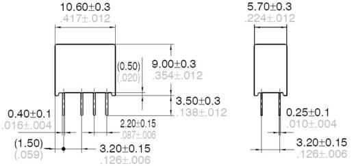 Jelzőrelé nyákba, monostabil 12 V/DC 2 váltó, 1 A 110 V/DC/125 V/AC 30 W/37,5 VA, Panasonic AGN20012
