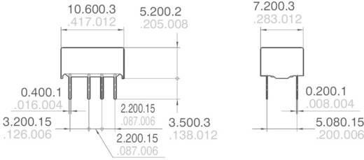 Jelzőrelé nyákba, monostabil, 24 V/DC 2 váltó 1 A 110 V/DC/125 V/AC 30 W/37,5 VA, Panasonic AGQ20024