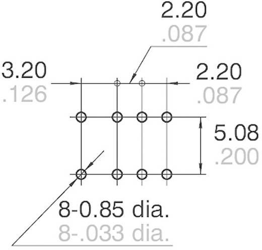 Jelzőrelé nyákba, monostabil, 12 V/DC 2 váltó 1 A 110 V/DC/125 V/AC 30 W/37,5 VA, Panasonic AGQ20012