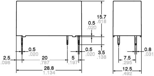 Teljesítményrelé, 16A 12V ALZ22F12