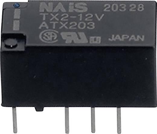 Jelzőrelé nyákba ültethető/SMD, monostabil, 12 V 2 váltó, 2 A 220 V 60 W, Panasonic TX212