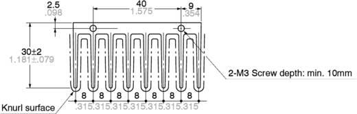 Hűtőborda 58 x 30 x 27 mm, Panasonic AQHS5A