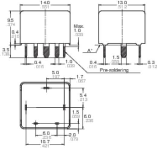 Autó relé 12 V/DC 1 váltó, NO 20 A / NC 10 A 14 V/DC, Panasonic CP112