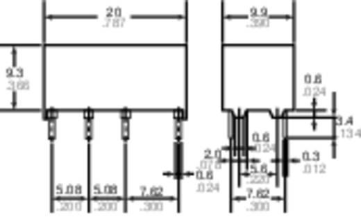 Jelzőrelé nyákba, 24 V/DC 2 váltó 2 A 220 V/DC/250 V/AC 60 W/62,5 VA, Panasonic DS2YS24