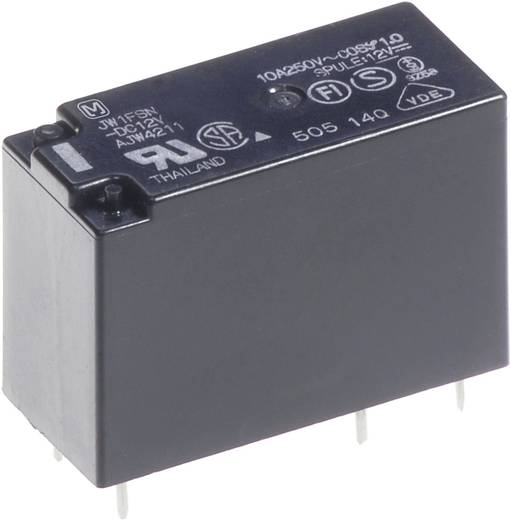 teljesítmény relé 5 V/DC 1 záró, 10 A 30 V/DC 250 V/AC 2500 VA/300 W, Panasonic JW1AFSN5F