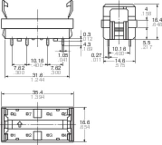 Nyákba ültethető relé foglalat ST reléhez, Panasonic ST-PS