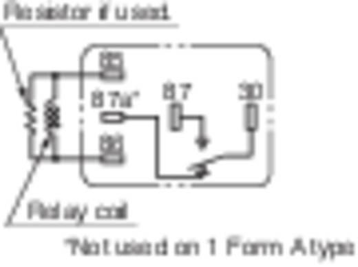 Autó relé 12 V/DC 1 váltó, NO 35 A / NC 20 A 14 V/DC, Panasonic CM1-12 V