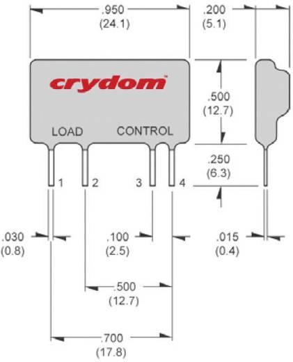 Elektronikus mini SIP nyák teljesítmény relé 1,5 A 12 - 280 V/AC, Crydom ASO241