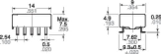 SMD jelzőrelé 12 V 2 váltó, 2 A 220 V/DC/125 V/AC 30 W/62,5 VA, Panasonic TQ2SA12