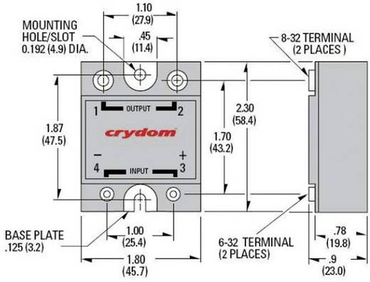 Elektronikus teljesítmény relé 1-es sorozat Crydom A2425